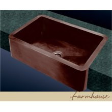 Farmhouse Kitchen Sink - Plain Pattern - Old Copper