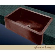 Farmhouse Kitchen Sink - Plain Pattern - Old Copper