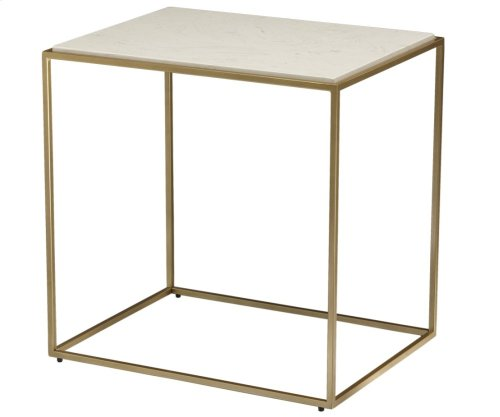 Misty Stone Rectangular Side Table
