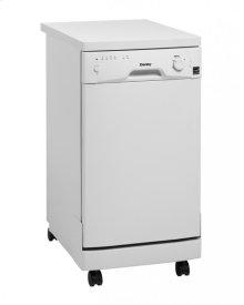 """Danby 18"""" Portable Dishwasher, White"""