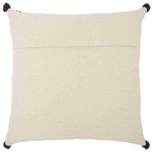 "Life Styles Dp010 Ivory/black 26"" X 26"" Throw Pillow"