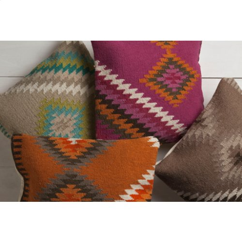 """Kilim LD-037 20"""" x 20"""" Pillow Shell with Down Insert"""