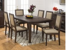 Geneva Hills Rectangle Dining Table With Six Upholstered Chairs