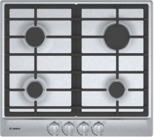 "500 Series, 24"" Gas Cooktop, 4 Burners, Stainless Steel"