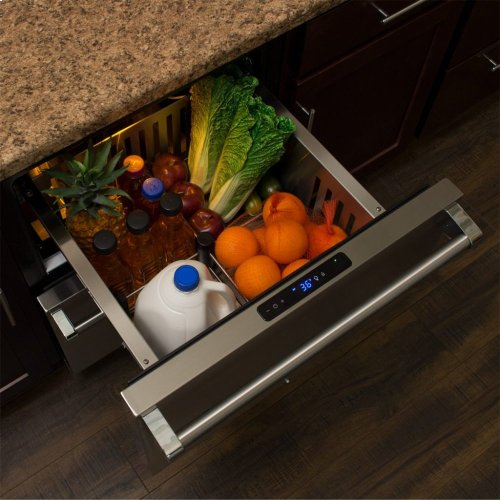 "Marvel Professional 24"" Refrigerated Drawers - Solid Stainless Steel Drawer Fronts, With Lock"