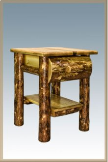 Glacier Country Rustic Nightstand