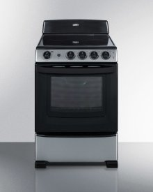 "24"" Wide Smooth-top Electric Range In Stainless Steel, With Lower Storage Drawer and Oven Window; Available Winter 2018"