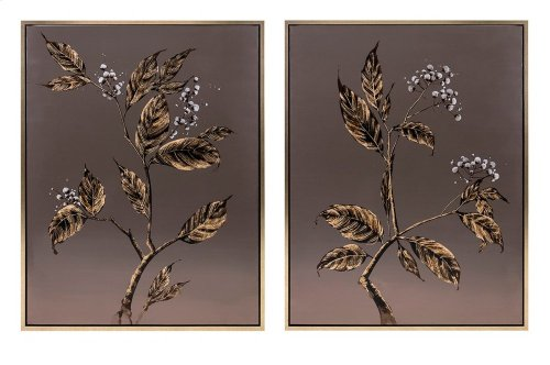 Cultivated Shadow Framed Oil Paintings - Ast 2