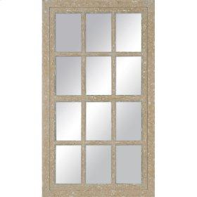 Painted Windowpane Mirror