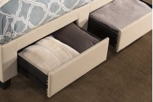 Duggan Front Storage Bed - Queen - Rails Included