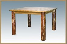 Glacier Country Log 4 Post Square Dining Table