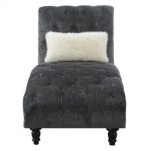 Emerald Home Hutton II Chaise Nailhead With 1 Pillow Charcoal U3164-07-53