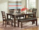 6 PIECE DINING SET (TABLE WITH 4 CHAIRS AND BENCH) Product Image