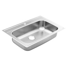 "1800 Series 33""x22"" stainless steel 18 gauge single bowl drop in sink"