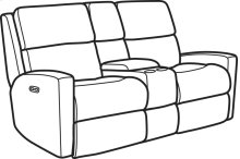 Catalina Fabric Power Reclining Loveseat with Console and Power Headrests