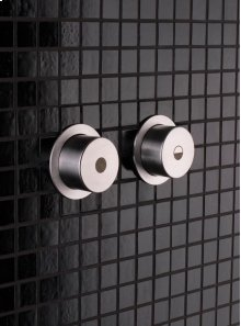Push button for dual flow system for Geberit (Serie 100/200/300/320) Sigma, Kappa, Omega and Delta, with pneumatic flush and If (installation parts IF- artnr 7925461 and 2 pc - Grey