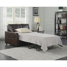 Emerald Home Slumber Twin Sleeper W/gel Foam Mattress Coffee U3215-33-25