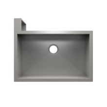 "SocialCorner® 005302 - undermount with apron front stainless steel Kitchen sink , 29"" × 18"" × 10"" Left corner"