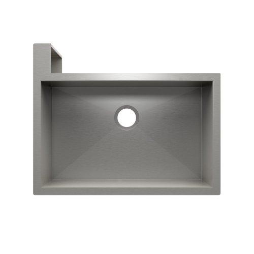 "SocialCorner® 005302 - undermount with apron front stainless steel Kitchen sink , 29"" × 18"" × 10"" Left corner"