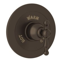 Tuscan Brass Arcana Integrated Volume Control Pressure Balance Trim Without Diverter with Arcana Series Only Ornate Metal Lever