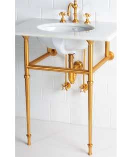 """42"""" Tapered Leg ( Will Work With Kohler Kathryn Console Table K-3029)"""
