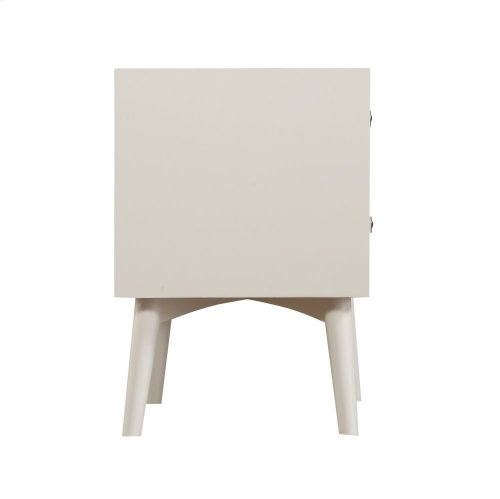 Emerald Home Home Decor 2 Drawer Nightstand-white B351-04wht