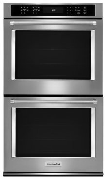 """30"""" Double Wall Oven with Even-Heat True Convection - Stainless Steel"""