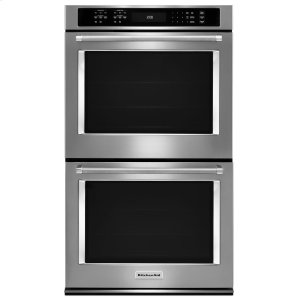 "Kitchenaid30"" Double Wall Oven with Even-Heat True Convection - Stainless Steel"