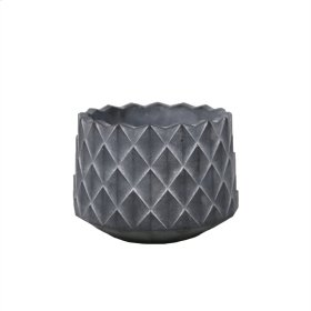 """Scaled Gray Cement Planter 6"""""""
