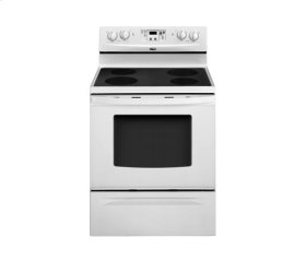 White-on-White 30 in. Standard-Clean Freestanding Electric Smoothtop Range