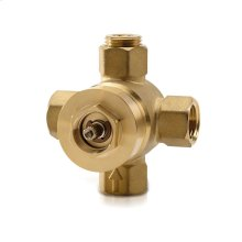 Two-Way Diverter Valve with Off - No Color