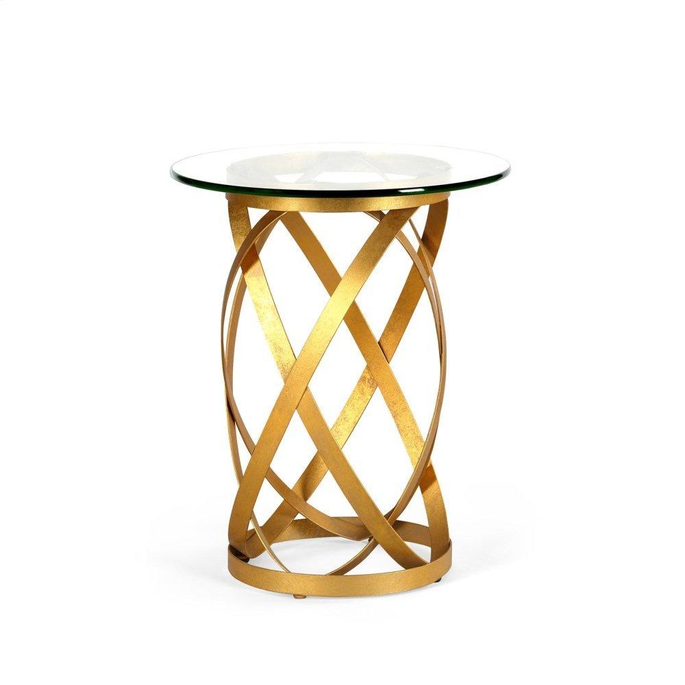 Belt Side Table, Gold