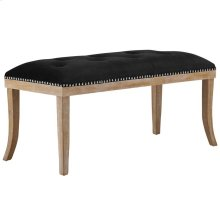Expression Velvet Bench in Black