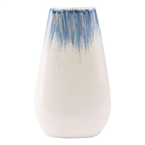 Ombre Lg Vase Blue & White