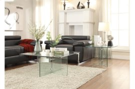 End Table with All Glass