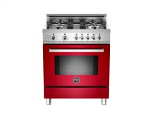 30 4-Burner, Electric Self-Clean Oven Red