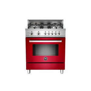 30 4-Burner, Electric Self-Clean Oven Red - Red