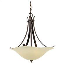 3 - Light Uplight Chandelier