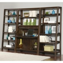 Promenade - Canted Bookcase - Warm Cocoa Finish