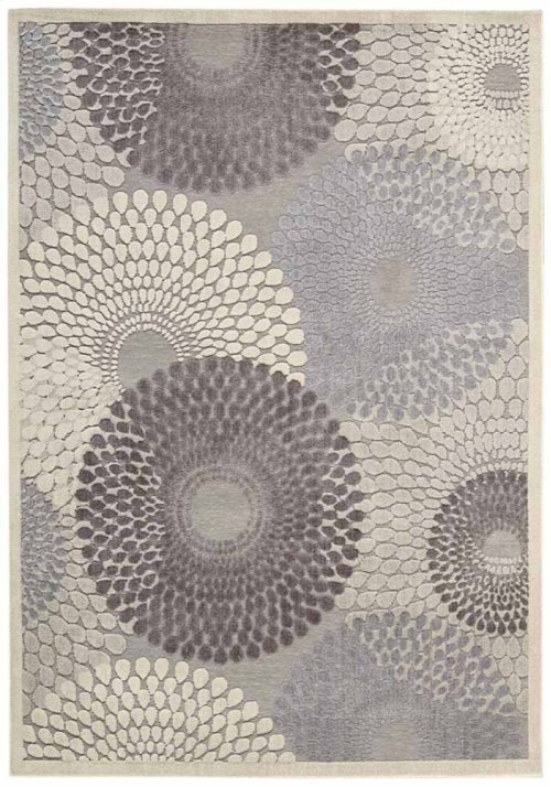 Graphic Illusions Gil04 Gry Rectangle Rug 5'3'' X 7'5''