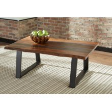 Industrial Grey Sheesham Coffee Table