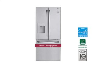 "30"" French Door Refrigerator With Smart Cooling System, 22 Cu. Ft."
