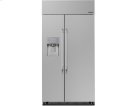 """Heritage 42"""" Built-In Side-by-SideRefrigerator, in Stainless Steel with Pro Style Handle Product Image"""
