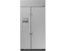 "Heritage 42"" Built-In Side-by-SideRefrigerator, in Stainless Steel with Pro Style Handle"