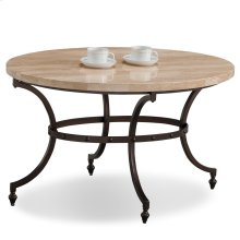 Oval Travertine Stone Top Coffee Table with Rubbed Bronze Metal Base #10124