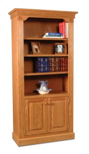 Imperial Bookcase, Wood Doors on Bottom Product Image