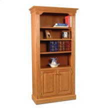 Imperial Bookcase, Wood Doors on Bottom