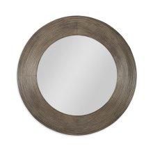 Casa Bella Reeded Mirror Timber Gray Finish