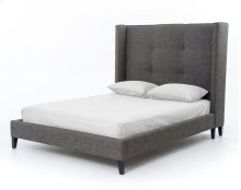 """King Size 60"""" Headboard Height Madison Upholstered Bed"""