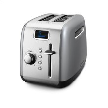 2-Slice Toaster with Manual High-Lift Lever and Digital Display - Contour Silver